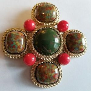 "Massive ""Mosaic"" brooch by Sarah Coventry vintage"